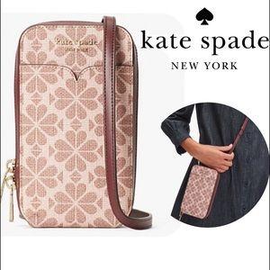 KATE SPADE North South Flower Crossbody Phone Bag